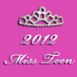 2012 Miss Teen Logo