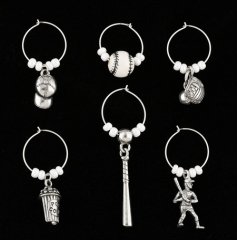wine charms baseball
