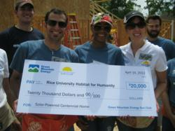 Check presentation at Houston Habitat for Humanity build day