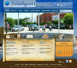 New Southport homepage powered by Vision Internet.
