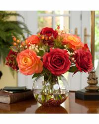 Silk Rose Centerpiece Floral Arrangement