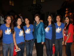 Reality Changers meet San Diego Mayoral Candidate District Attorney Bonnie Dumanis at USD's Joan Kroc Peace & Justice Center