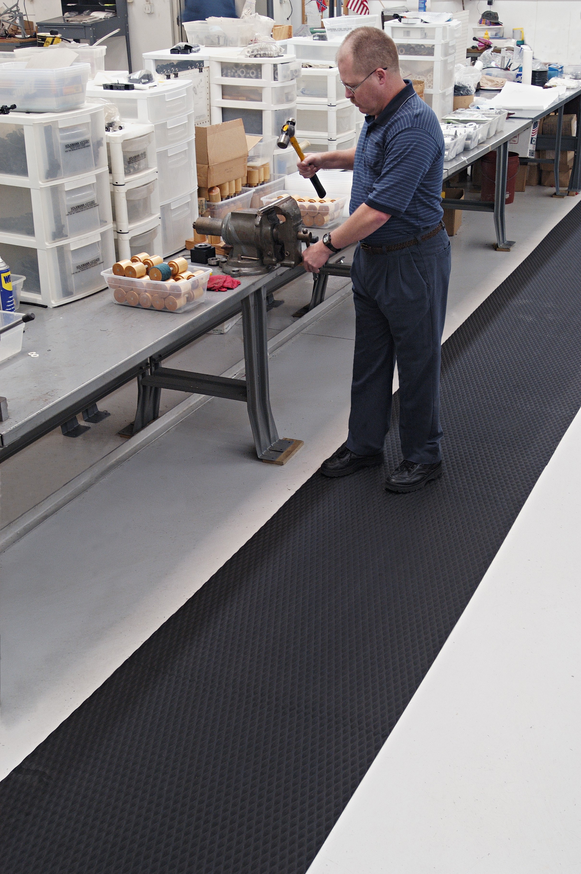Rubber floor mats for wet areas -  Large Areas With Slip Resistant Nitrile Rubber Matting The Chemical Resistant Mat Features Anti Microbial Treating And Works In Wet Or Dry Room