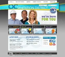 OC Sanitation District website powered by Vision Internet