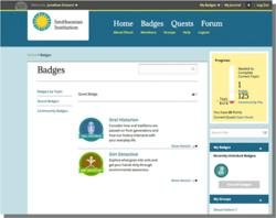 Smithsonian Badges Program Screenshot
