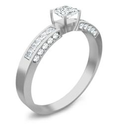 1 Carat Asscher Cut Engagement Ring with beautiful Asscher cut center diamond