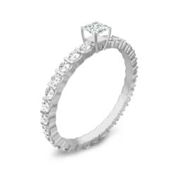 1 Carat Oval Diamond Engagement Ring featuring Oval cut diamond