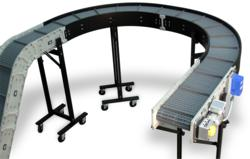 Lateral turns are possible with DynaCon Modular Conveyor Systems
