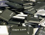 Laptop keys pile