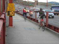 radar sign bicyclist safety