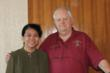 Dr. Khin Nyein Lin, Deputy Director/Project Manager, Trachoma Control & Prevention of Blindness Programme, Ministry of Health in Burma and Lion Council Chair Dennis Brining.
