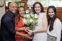 Pictured below left to right, JR Martinez, Diana Jones, Majda Ficko-CEO Baby Butz cream with daughter Paris