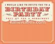 New 'Birthday Invite Orange' invitation ecard from www.katiescards.com