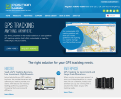 Position Logic's new home pages features hosted and enterprise GPS tracking software