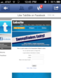 Facebook Page tab mobile view by TabSite.com