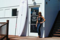 Paddle Diva's Gina Bradley at the new Shagwong Marina location in East Hampton