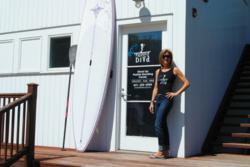 Paddle Diva's Gina Bradley at the new Shagwong Marina location in East Hampton