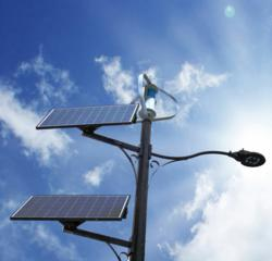 solar wind powered street light