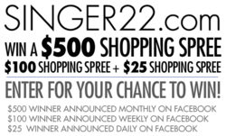 SINGER22 Facebook Shopping Spree