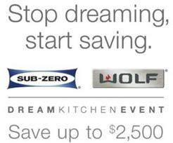 Sub Zero and Wolf Consumer Program at Hillmon Appliance