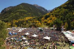 Thousands of people gather in Telluride Town Park for the 18th Annual Telluride Blues & Brews Festival