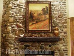 Fireplace mantels in java's deeper tones create a wealth of design options for home owners.