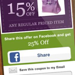 Mobile Coupon with Social Sharing