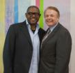 Forest Whitaker (L) and Ringling College President Dr. Larry R.Thompson (Image ©2012 Ringling College of Art and Design | Jackson Ray Petty '15, Photography & Digital Imaging)