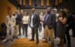 Forest Whitaker (Center) watches 3D student film at Ringling College Digital Filmmaking Studio Lab