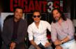 Chayanne, Marc Anthony and Marco Antonio Solis strike a pose during the GIGANT3S U.S. Tour Press Conference at the American Airlines Arena.