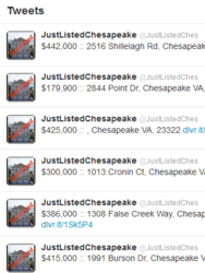 real esate, homes, condos, chesapeake, twitter