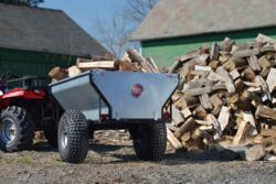 DR Power Versa Trailer Half Ton Utility Trailer Hauling Split Wood