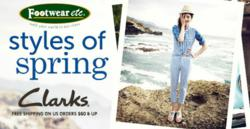 All Clarks Shoes and Sandals ship for Free from Footwear etc.