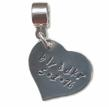 Katie's Charms hand stamped heart shaped charm