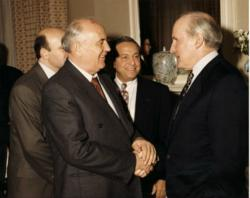 President Gorbachev with Jack Welch & Robert Walker