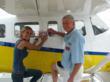 Aircraft owner Julie Ann Floyd and Bill Schmalz of The Seaplane Pilot's Association