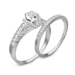 1 Carat Diamond engagement ring set available on JewelOcean.com at cheap and affordable price