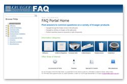 Krueger's New FAQ Web Portal