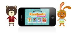 Kandoobi Animals 4-in-1 activity app home screen.
