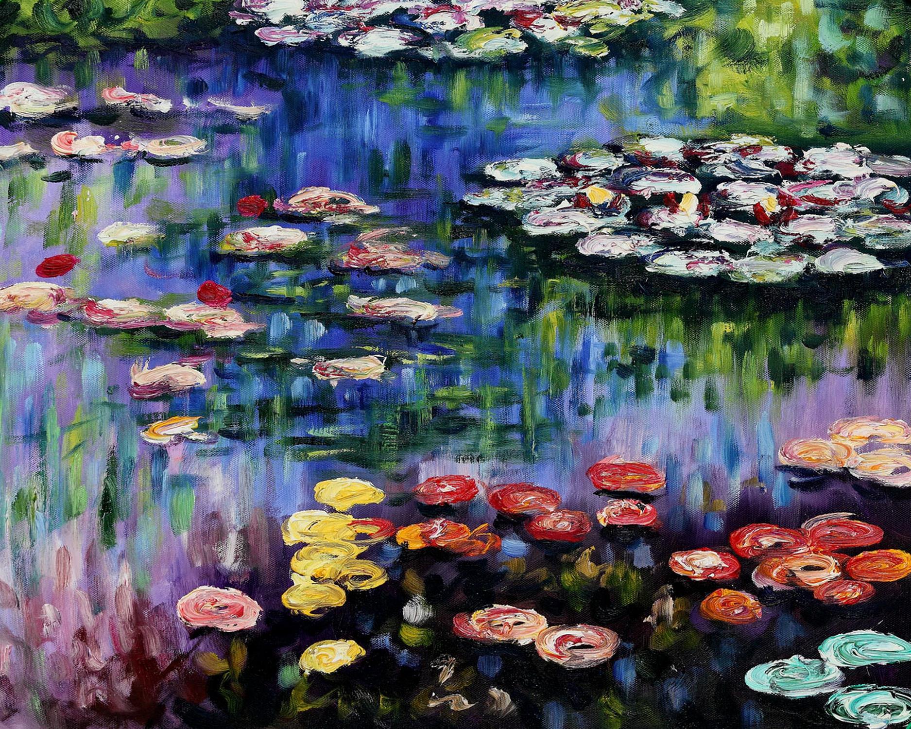Claude monet water lilies art pinterest for Claude monet artwork