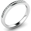 Diamond Set Wedding Ring in Palladium