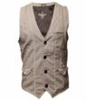 Men's REDEMPTION vest from ROAR's current selections show the design detail the company is known for.