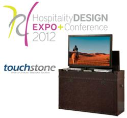 Touchstone TV Lift Cabinets - 2012 Hospitality and Design Expo Las Vegas