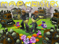 Monsternauts vs. fungus monsters