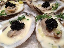 Caviar Recipes: Black River Caviar with Poached Oysters and Leek Cream