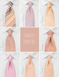 Popular Peach Colored Ties from Bows-n-Ties.com