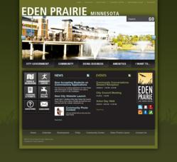 Eden Praire government website powered by Vision Internet