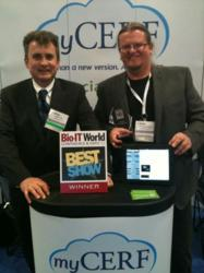 CERF iPad app Best of Show at Bio-IT World