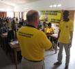 Volunteer Ministers demonstration.