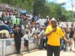 VM Francois Muepo speaking to the crowd.